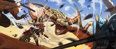 Monster Hunter - Creampu Vs Tigrex by DigitalOme.deviantart.com on @DeviantArt