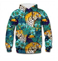 The jungle sweatshirt is represented by the tiger and the toucan. You too can (oh so punny!) experience the wilderness - the Chinese inspired drawing style will surely make that possible. www.bittersweetclth.com