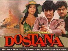 37 Years of Dostana film). Hindi Movie Video, Yash Johar, Amrish Puri, 1980 Films, Hindi Movies Online, Amitabh Bachchan, Drama Film, Movie Posters, Film Poster