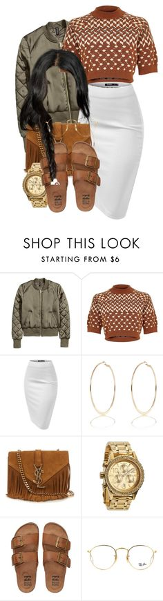 """""""It's Thursday and tomorrow's Friday"""" by xx-speaker-knockerz-xx ❤ liked on Polyvore featuring River Island, Yves Saint Laurent, Nixon, Billabong and Ray-Ban"""