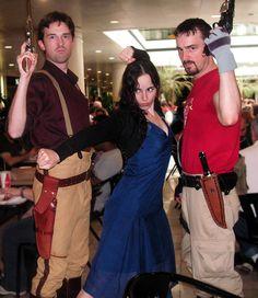 Mal, River, & Jayne, Firefly cosplay.