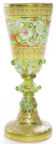 Moser glass stem compote