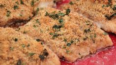 A wonderful herb breadcrumb mixture enhances the flavor of roasted cod.