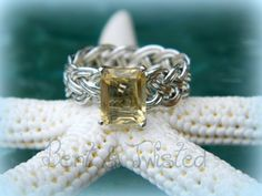 Braided Citrine and Sterling Silver Ring  by BentTwistedCreations, $115.00