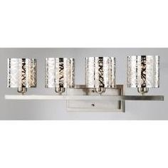 Beautiful sconce to update the bathroom (has a chandelier to match)    $135  Otis Designs Satin Nickel 4-light Wall Sconce