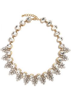 Cute Necklace - Rhinestone Necklace - Gold Necklace - $27.00