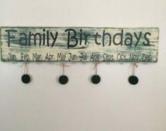 Calendario de cumpleaños familiar corazón por KariFlo en Etsy