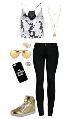 Hip-Hop #315 by ambere3love34 on Polyvore featuring Topshop, 2LUV, Casetify, Linda Farrow, Beats by Dr. Dre, dance and HipHop