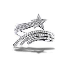 CHANEL - Bracelet in 18K white Gold and Diamonds - Comète Bracelet -... ❤ liked on Polyvore