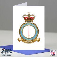 RAF Leeming Station Crest Badge Presentation Promotion Retirement Card Gift