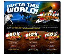 Prism Casino Outta This World Promo get 560% Match reload Bonus