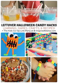 What to Do With Leftover Halloween Candy! + The Kids Co-Op Link Party at B-InspiredMama.com #kids #halloween #candy #kbn #binspiredmama