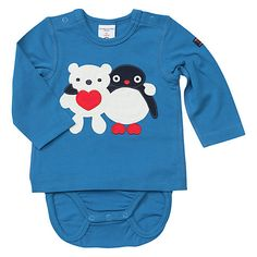Buy Polarn O. Pyret Baby Penguin and Bear Body-Shirt, Blue Online at johnlewis.com