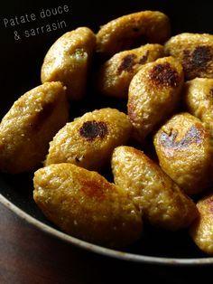 Quenelles de patate douce au sarrasin (sans gluten) Fait +++ (avec de la maïzena)