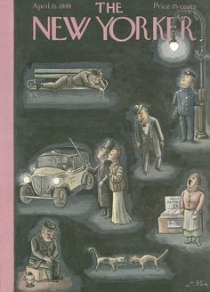 The New Yorker - Saturday, April 15, 1939 - Issue # 739 - Vol. 15 - N° 9 - Cover by : William Steig