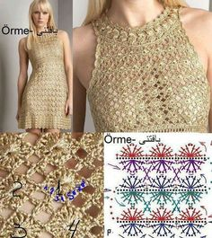 Vestidos    ♪ ♪ ... #inspiration #diy #crochet  #knit GB   https://www.facebook.com/pages/Preciso-Desabafar/727301460670103