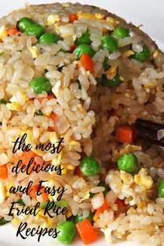 Easy and Delicious Fried Rice rice recipe chinese food simple Fried Rice Recipe Indian, Best Fried Rice Recipe, Chicken Fried Rice Recipe Easy, Healthy Fried Rice, Chicken Rice Recipes, Brown Rice Recipes, Easy Rice Recipes, Healthy Chicken, Rice Breakfast Recipes