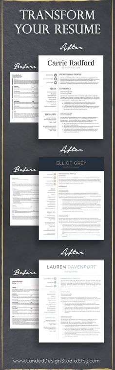 Completely transform your resume with a professional resume template, resume writing tips and resume advice.