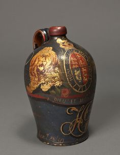 An Eighteenth Century Wine Jug Decorated With The Royal Coat of Arms, English, 1750