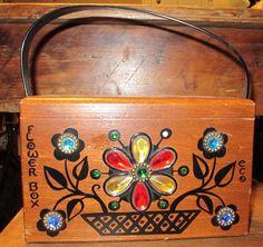 Enid Collins of Texas Flower Box Bag