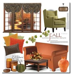"""""""Color'fall'"""" by mslewis6 ❤ liked on Polyvore featuring interior, interiors, interior design, home, home decor, interior decorating, Dot & Bo, Kartell, Inspire Q and DutchCrafters"""