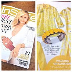We're walking on sunshine! #Sorrelli Set in Stone Cuff #Bracelet featured in the May issue of @InStyle Magazine Click through to shop this style!