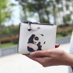 2016 Desain Baru Pendek Dompet Dengan Kartun Pola Gadis wanita clutch dompet Mini Purse Dompet Tas Multifungsi wanita dompet