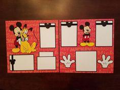 Mickey Mouse & Pluto 2 Page Premade Scrapbook Layout Disneyland Disney Scrapbook Layout ft. Mickey Mouse & Pluto 2 Page Premade Scrapbook Layout Disneyland Birthday Scrapbook Layouts, Cruise Scrapbook, Disney Scrapbook Pages, Scrapbook Sketches, Scrapbook Page Layouts, Baby Scrapbook, Scrapbooking Ideas, Travel Scrapbook, Scrapbook Paper