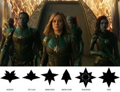 "If you look closely, each member of Starforce actually has a unique star design on their uniform. 21 Secrets About The ""Captain Marvel"" Costumes That Will Make You Say, ""Wait, That's Really Cool"" Marvel Avengers, Marvel Fan, Marvel Memes, Avengers Memes, Disney Marvel, Tomb Raider Comics, Geek House, Captain Marvel Costume, Captain Marvel Carol Danvers"