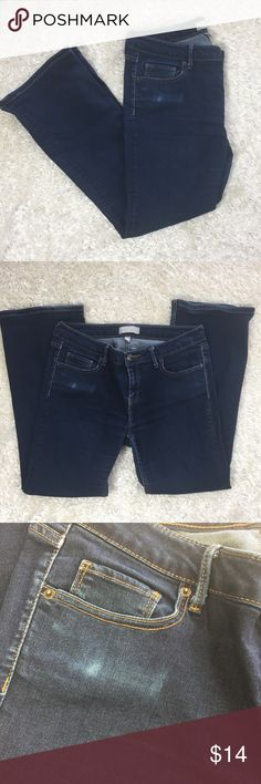 Banana Republic Short Boot Cut Fit Jeans Size 30 Short, Boot Cut, 5 pocket jeans with some fading on front. Waist: 34 in; Inseam: 26 in; Rise: 9 in Banana Republic Pants Boot Cut & Flare