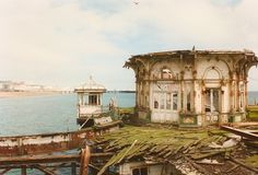 Archive photo of the decaying kiosk on The West Pier, Brighton, taken in the 1990s