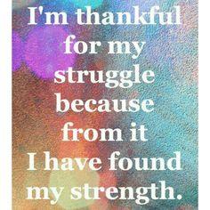Struggles vs Strength