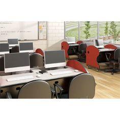 "Paragon Furniture Learning Bay Training Table Size: 63"" W, Laminate Top: Pewter Mesh"