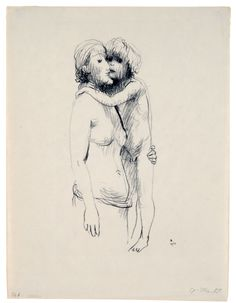 Gerhard Marcks, Mother and Child (Mutter and Kind), 1932. Lithograph. 12 1/4 x 6 1/4 in. Collection UCLA Grunwald Center for the Graphic Arts, Hammer Museum.  Gift of Mr. and Mrs. Stanley I. Talpis.