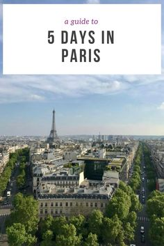 History, art, culture, romance, gastronomy, fashion - Paris has it all! Check out our guide and itinerary to 5 days in Paris.