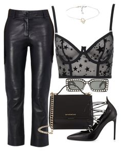 A fashion look from September 2017 featuring long line bra, laced up shoes and mini purse. Browse and shop related looks. Cute Comfy Outfits, Stylish Outfits, Mein Style, Teen Fashion Outfits, Saint Laurent, Yoko, Clothes, Night, Kpop Clothes