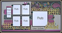 Just Crazy Blessed laughing Lola Layout using Cricut Artbooking! CTMH Close to My Heart - PRE-CUT K ITS FOR SALE COMING SOON!!! :)