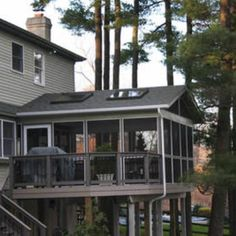 Raised Deck with Screened Porch - Design Ideas - Archadeck