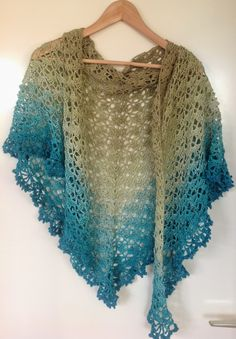 "K van Kneuterig; Crochet shawl. Yarn: ""limited by Wolcafe"", pattern by Wolcafe"