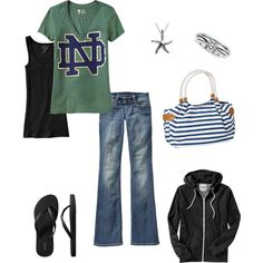 laid back. Love the ND shirt! ;)