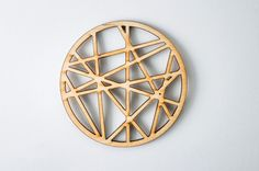 Crossing lines-Wooden laser cut coaster-for mug-for tea or Crossing Lines, Wooden Coasters, Laser Cutting, Design Elements, Mugs, Unique Jewelry, Handmade Gifts, Drinking, Minimalist
