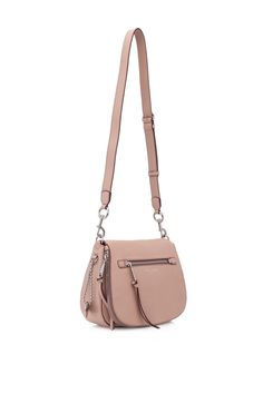 20343776c51cd4 Marc Jacobs Recruit Saddle Bag Nude (Designer Colour) - MARC JACOBS