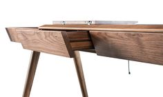 Metis is a compact desk, that offers a great storage solution. #metis #desks #storage #solidwood