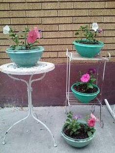 Vintage Tupperware Planters