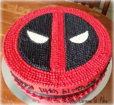 deadpool tiered cake - Google Search Pool Birthday Cakes, Themed Birthday Cakes, Boy Birthday Parties, Themed Cakes, Birthday Ideas, Teen Boy Birthday Cake, 3rd Birthday, Happy Birthday, Fancy Cakes