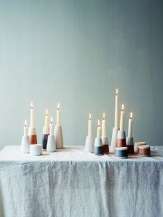 candle holders wik & walsøe Modern Holiday Decor, Best Candles, Candle Holders, Table Settings, Indoor, Lights, Interior, Inspiration, Lamps