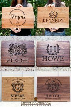 Custom Cutting Boards, Engraved Cutting Board, Personalized Cutting Board, Dremel Tool Projects, Laser Cutter Projects, Wood Burning Crafts, Wood Burning Patterns, Diy Wooden Projects, Wood Crafts