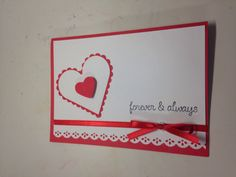 Valentines Day Card by scrappinbjs. Explore more products on http://scrappinbjs.etsy.com