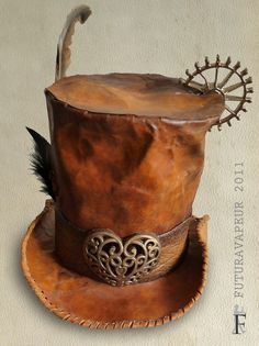 Steampunk madhatter hat. I would love for madhatter and march hare to have a steampunk look.
