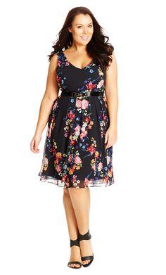 City Chic Fancy Floral Dress - Women's Plus Size Fashion City Chic